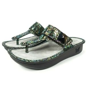 Alegria Carina Wedge Thong Sandals